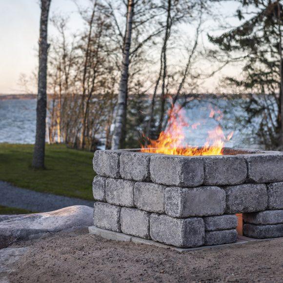 Firepit tulisija harmaa, ranta