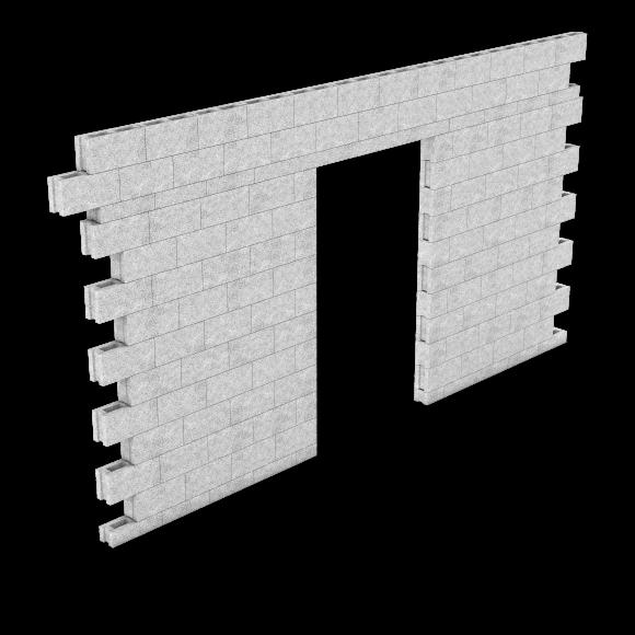 HB-Priima130 seinämä ja ylityspalkki