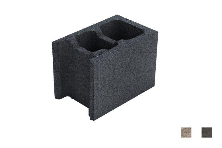 Muurikivi Päätykivi carbon black värimallit