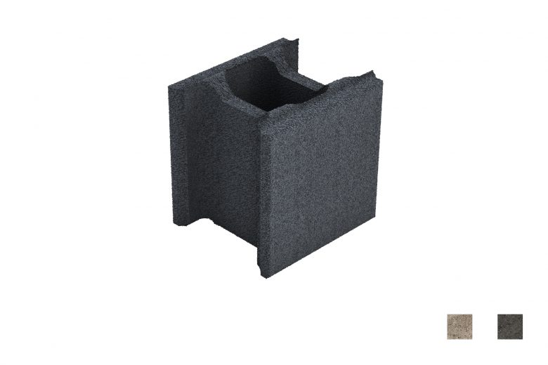 Muurikivi Sileä carbon black värimallit