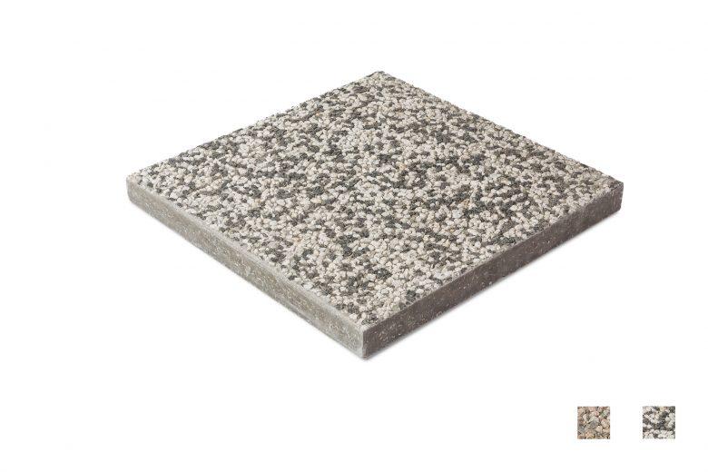 Pesubetonilaatta 400 mustavalkoinen värimallit