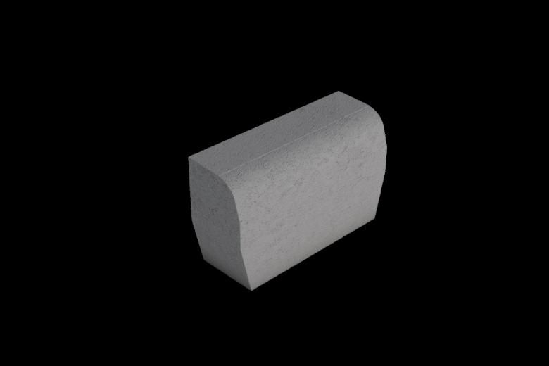 Upotettava reunakivi suora 0,5m